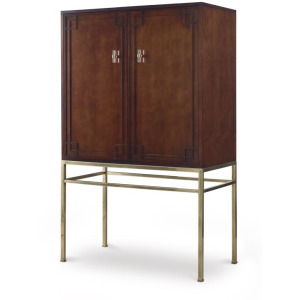 Details Bar Cabinet (wood Back Panel)