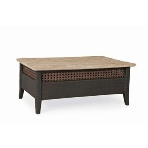 Denpasar COCKTAIL TABLE  Hularo Cane/Travertine Stone