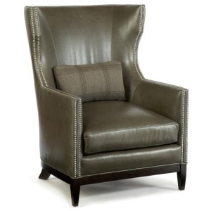Century Leather Townsend Wing Chair