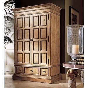 Oscar De La Renta Collection WEATHERED PINE COUNTRYSIDE ARMOIRE
