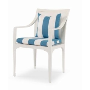 Riviera DINING ARM CHAIR  Powder-coated Aluminum