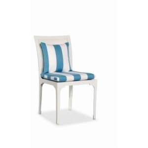 Riviera DINING SIDE CHAIR  Powder-coated Aluminum