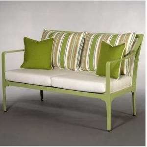 Riviera LOVE SEAT  Powder-coated Aluminum