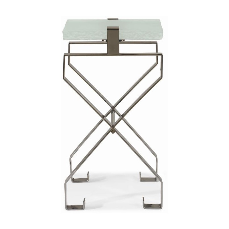 Chin Hua Baotou Martini Table With Textured Glass Top