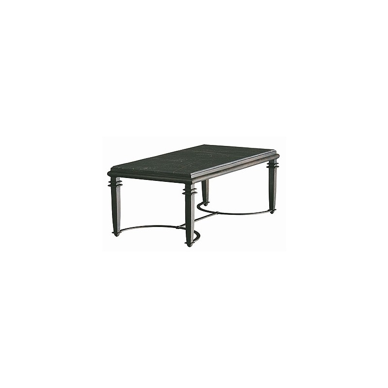 Oscar De La A Collection Charcoal And Ochre Marble Top Tail Table