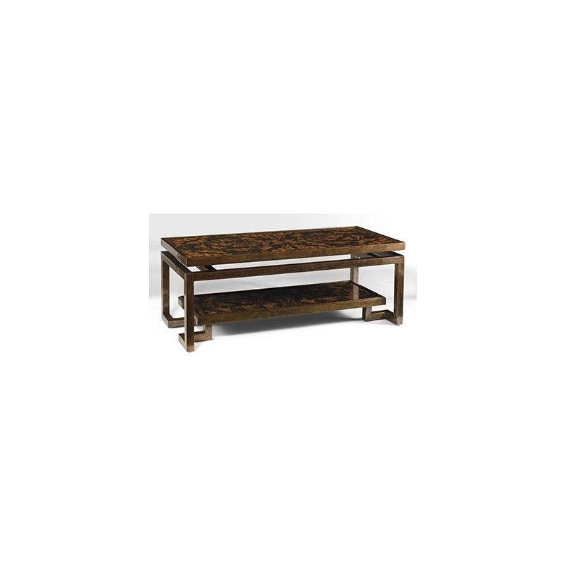 Oscar De La A Collection Tortoise Parchment And Br Tail Table