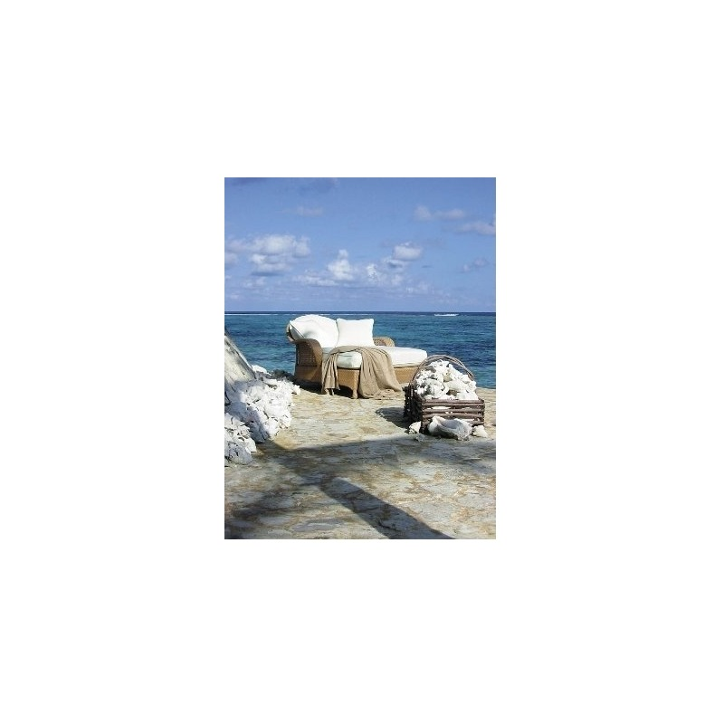 Oscar de la Renta Outdoor CONCH CHAISE (60-D9-71) Hularo® Chalk White
