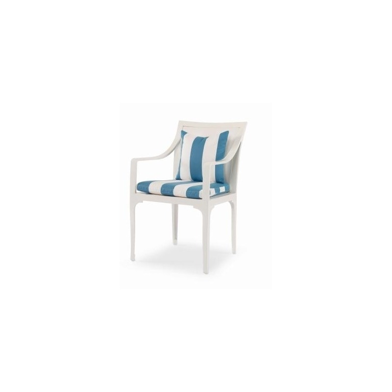 Riviera DINING ARM CHAIR (D26-52-1)  Powder-coated Aluminum
