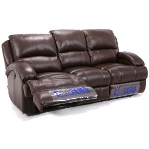 Plush Leather Reclining Sofa