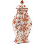 Orange And White Vase