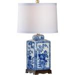 Lotus Lamp Sm Blue