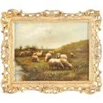 34-0014a Sheep W/cottage