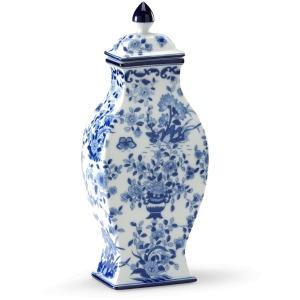 42-0158 Blue/white Vase-pair