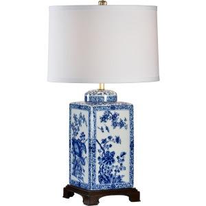 Lotus Lamp Lg Blue