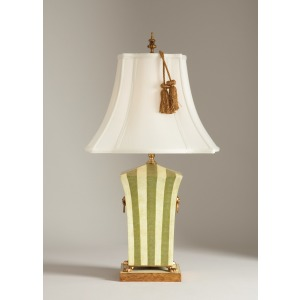 23-0200a Green Striped Lamp