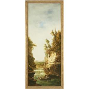 34-0165a River Landscape-boat