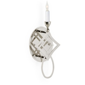 Diamond Sconce - Nickel