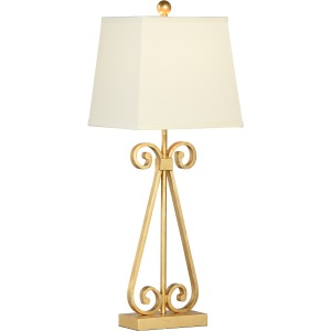 Scroll Lamp - Gold
