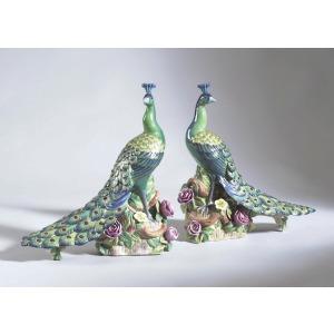 42-0147 Peacocks-pair