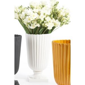43-0209b Ceramic Vase - White
