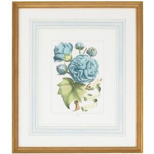 30-0043b Bl Floral W/ribbon-b
