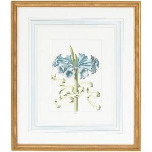 30-0043d Bl Floral W/ribbon-d