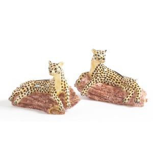 43-0219 Leopards On Log-pr