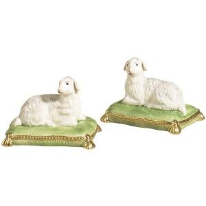 43-0036 Lambs/grn Pillows-pr