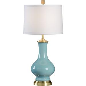 Sloan Vase Lamp - Light Blue