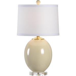 Oval Vase Lamp Sm Beige