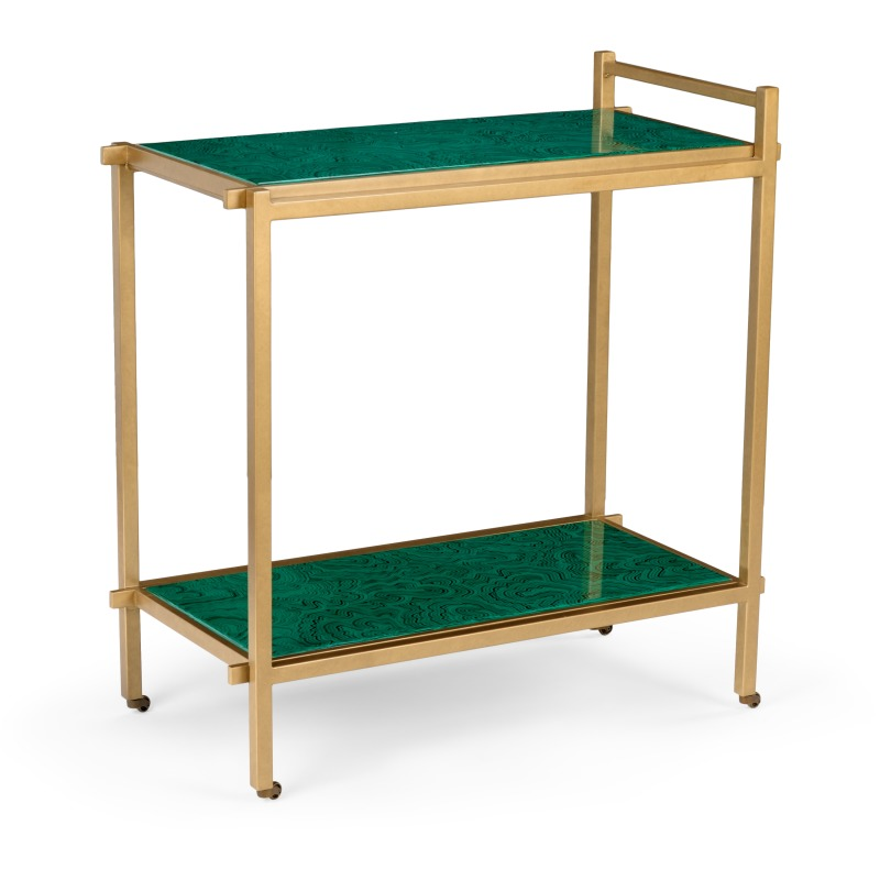 Bar Cart-malachite