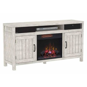Melissa TV Stand w/Fireplace Insert