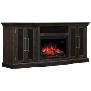 Grand TV Stand with Electric Fireplace Option