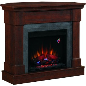 Franklin Corner Mantel w/Fireplace Insert