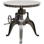 """Afton Crank Table 22"""" Nickel"""