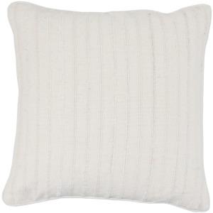 NE Morris Linen White 22x22 Pillow