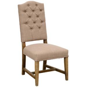 Ava Wingback Chair - Dark Linen