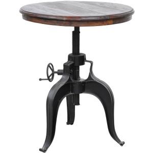 Nika Crank Table w/ Reclaimed Wood Top 30