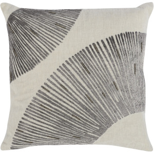 LC Leda Charcoal 18x18 Throw Pillow
