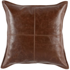 SLD Leather Kona Brown 22x22 Pillow