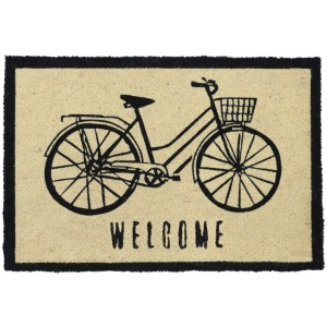 Doormat Bicycle Black 24x36