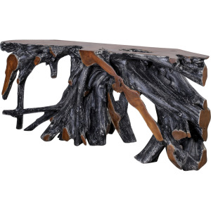 """Madeira 71"""" Root Console Table Black"""