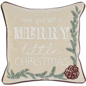 VE Merry Little Natural 18x18 Pillow