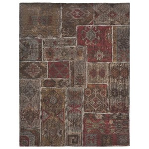 Patchwork Stonewashed Kilim - Coffee