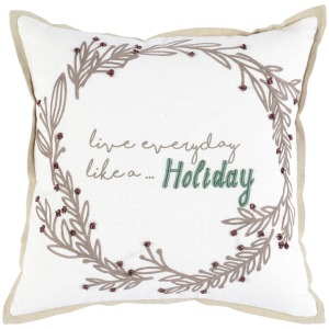 VE Live Everyday Ivory 18x18 Pillow