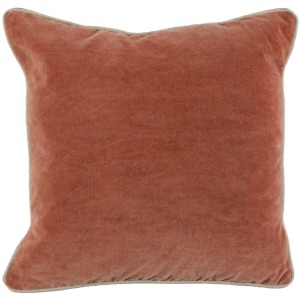 SLD Heirloom Velvet Terra Cotta 18x18 Pillow