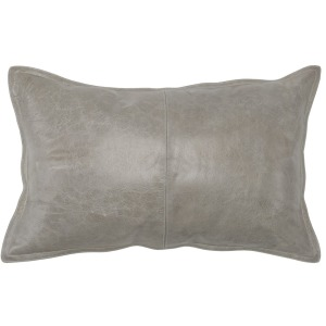 SLD Leather Pike Gray 14x26 Pillow