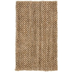 Braided Handspun Jute 373A Knobby Loop Natural Rug