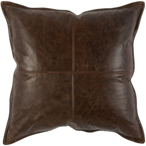 SLD Leather Parsons Cocoa Pillow 22x22