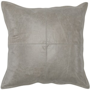SLD Leather Pike Gray 22x22 Pillow